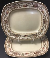 Vintage Wedgwood TRIANON Large Serving Platter~Plate~flowers~brown~pink~England