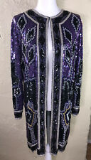 New listing Judith Ann Creations Vintage Womens Silk Sequins Evening Party Jacket Sz Small