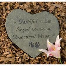 Memory Stone, Faithful Friend Dog Memorial Garden Stone, by Dog Speak