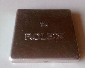 Vintage ROLEX Aluminium BOX Parts STORAGE Tin Box BEZEL DIAL GMT DAYTONA SCATOLA