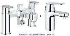 Grohe eurosmart cosmo bain douche mélangeur lisse bassin mitigeur 25129 + 3282400L