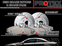 Protex Front Brake Rotors & Ultra Pads FOR Nissan Navara 4WD D40T 2007-on