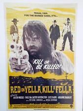 "RED ON YELLA, KILL A FELLA - 11""x17"" Original Promo Movie Poster MINT 2015 Texas"