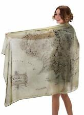 Lord of The Rings Middle Earth Map Lightweight Scarf Moss Green Gifts for Women