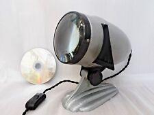 50s INDUSTRIAL TABLE LAMP, Vintage GREY ALUMINIUM METAL Retro PHOTO STUDIO LIGHT