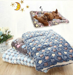 Soft Flannel Thickened Pet Soft Fleece Pad Pet Blanket Bed Mat For Puppy Dog Cat