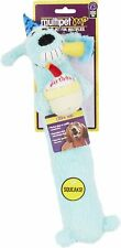 """Multipet  Happy Birthday Plush With Squeaker Loofa 12"""" Dog Toy Blue Color ONLY"""
