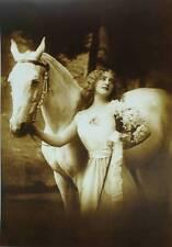 Vintage art , Lady Glamour Horse Color 14