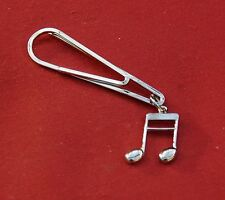 Double Semi Quaver, or 1/16th note Music Silver Pin Badge, New
