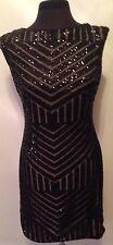 New Lauren by Ralph Lauren Black Shiny Size 6 Evening Party Dress