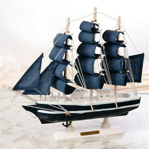 Pirate Sailing Ships Nautical Ornaments Sea Boats Room Decoration Wooden Crafts
