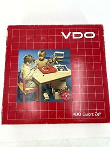 Vtg VDO German Working Clock Toy Time Teaching Tool Cognitive Puzzle Toy