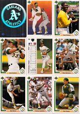 1991 UD Upper Deck Oakland Athletics Master Team Set w/ Logo Hologram (42)