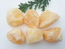 6 x Orange Calcite Raw Natural Crystal Specimen 30-40mm - Gridding - Energising!