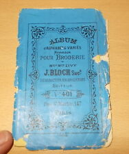 BRODERIE ABECEDAIRE ALPHABET CATALOGUE ALPHABETS VARIES DE ZIVY BLOCH N°401