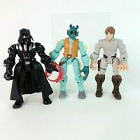 Disney Hasbro Star Wars Hero Mashers Bundle Neeku Darth Luke Skywalker VGC