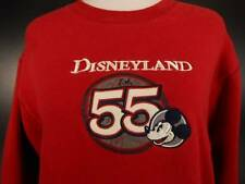 Warm Women's XL Disneyland 55 Red Mickey Mouse Long Sleeve Pullover Sweatshirt