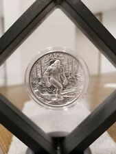 Bigfoot 1 oz .999 Silver round Sasquatch American Folklore high relief framed