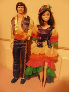Donny & Marie Osmond Dolls - wearing South 'o the Border TV Fashions; 1976