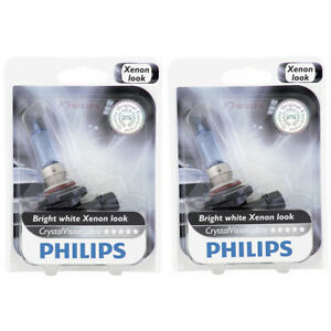 2 pc Philips High Beam Headlight Bulbs for Honda Accord Accord Crosstour ti