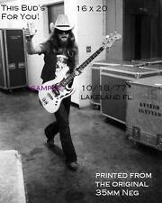 Lynyrd Skynyrd 1977 Leon Wilkinson 16 X 20 B&W Backstage Photo Lakeland,Florida