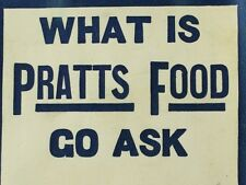1890's What Is Pratts Food Go Ask Victorian Trade Card Sticker F92