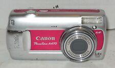 Canon PowerShot A470 7.1MP Digital Camera - Pink