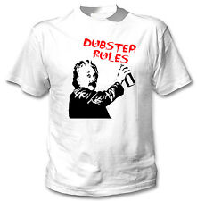 DUBSTEP RULES - NEW COTTON WHITE TSHIRT