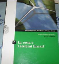 MODULI DI MATEMATICA MODULO E - 3a EDIZIONE - M.BERGAMINI A.TRIFONE - ZANICHELLI