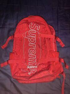 Supreme Backpack (FW18) Red - 3M Reflective