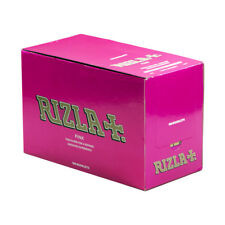RIZLA CIGARETTE ROLLING (RYO) PAPER PINK 100 BOOKLETS (FULL BOX)