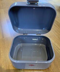 Wesco Small Storage Box, Grey Metal Tin, Various Uses