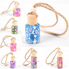 Floral Printed Hanging Car Air Freshener Perfume Diffuser Fragrance Bottle Chic