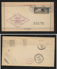 US  San Juan, PR to  Neuvitas  first flight cover 1931       KL0524