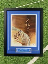 Earl Campbell Signed 8x10 Jsa Auto Custom Framed Houston Oilers