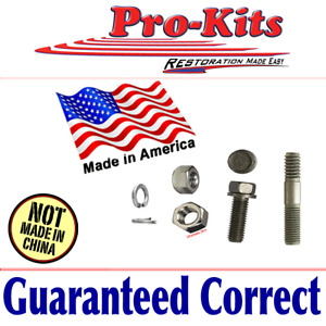 Fits Dodge Plymouth Chrysler Correct Starter Bolt Stud Nut Replacement Kit