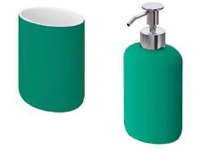 New IKEA EKOLN Toothbrush holder + Soap dispenser, green