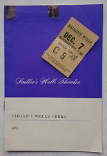 COUNT ORY.G ROSSINI.A E SCRIBE.SADLER'S WELLS PROGRAMME TICKET 63.DENIS DOWLING