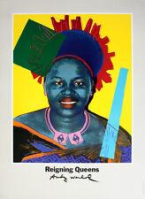 ANDY WARHOL - Queen Ntombi Twala - RARE ORIGINAL 1986 POSTER Art Expo Denmark