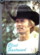 Vintage Movie Poster CLINT EASTWOOD in Cowboy Hat