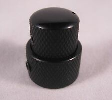 GUITAR FUEL KB-2 BLACK Volume Tone Concentric Stacked Control Knob Guitar Bass