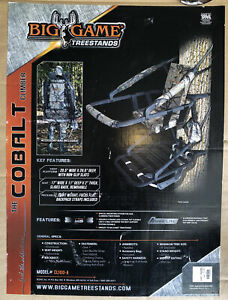 Big Game (The Cobalt Climber) CL100-A Aluminum Deer Hunting 1 Person Tree Stand