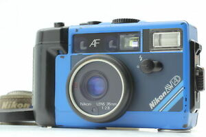[Exc+5] READ NIKON L35 AW AD Blue Underwater Film Camera 35mm f/2.8 From JAPAN