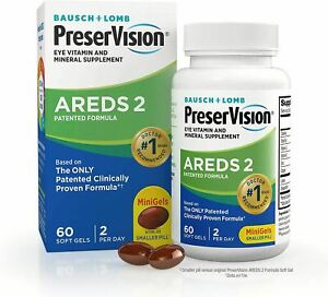 PreserVision AREDS 2 Eye Vitamin & Mineral Supplement, Contains Lutein, Vitamin