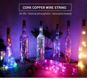 20 LED Lights Wine Bottle Cork Fairy String Light Wedding Party Xmas Décor Lamp
