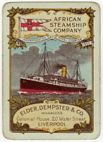 Playing Cards 1 Single Card Old Wide ELDER DEMPSTER LINES Shipping Advertising 6