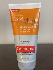 Neutrogena Rapid Clear Oil Eliminating Foaming Cleanser Acne Prone Skin 6oz