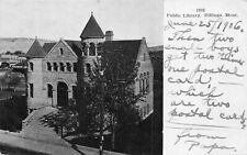 # M3182  BILLINGS, MT.  POSTCARD,  PUBLIC  LIBRARY