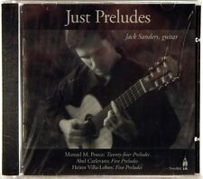 SEALED TOWNHALL Just Preludes JACK SANDERS Guitar Ponce (CD, 2000) THCD-56
