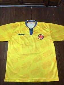 Federacion Colombiana De Futbol Vintage Colombia Soccer Jersey Men's Large #10
